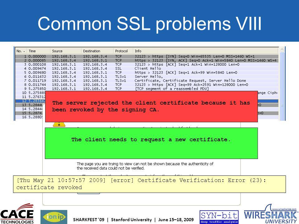 Common SSL problems VIII