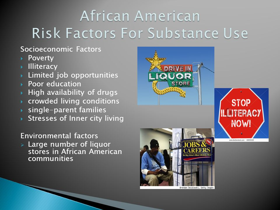 African American Risk Factors For Substance Use