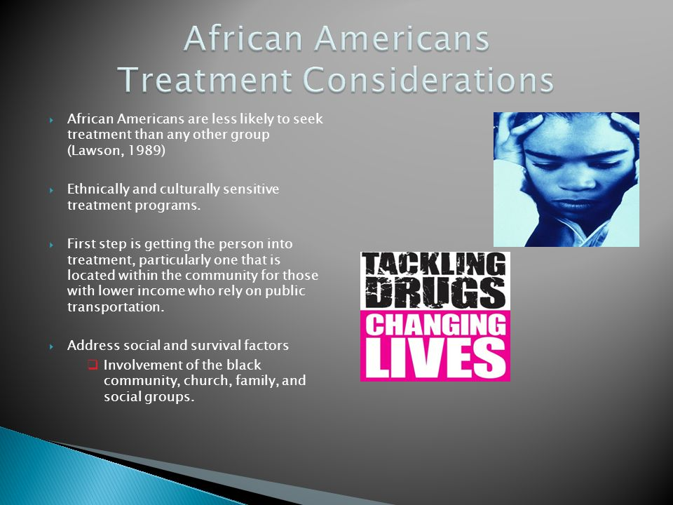 African Americans Treatment Considerations