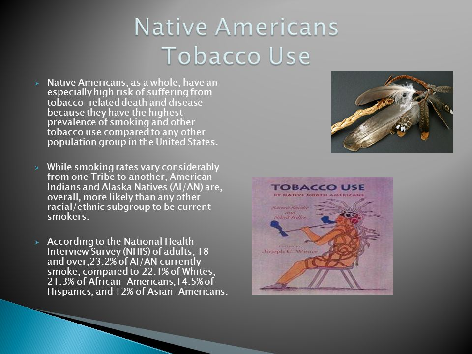 Native Americans Tobacco Use