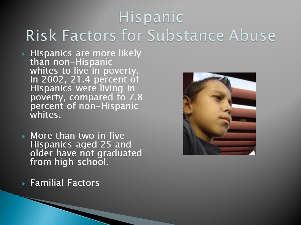 Hispanic Risk Factors for Substance Abuse