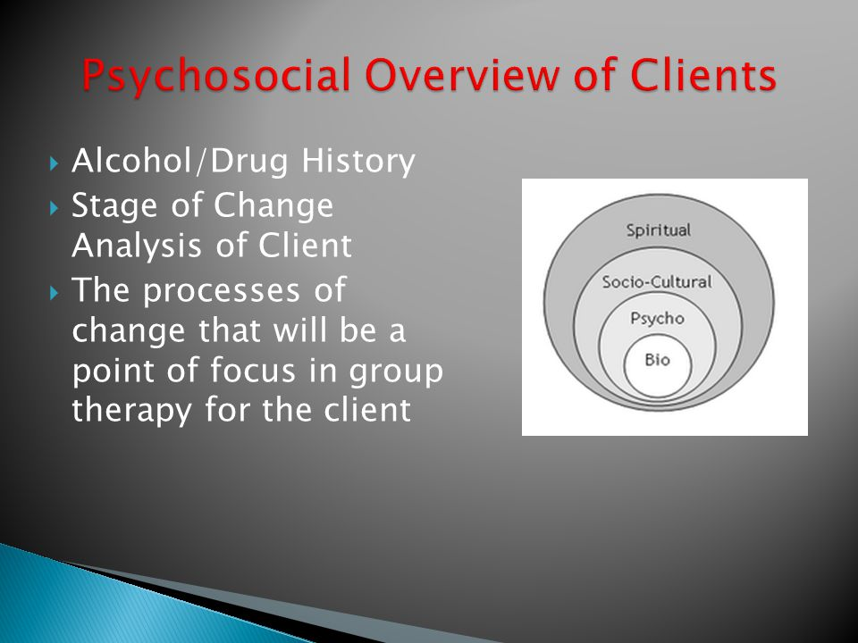 Psychosocial Overview of Clients