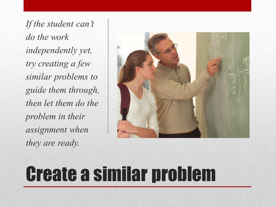 Create a similar problem