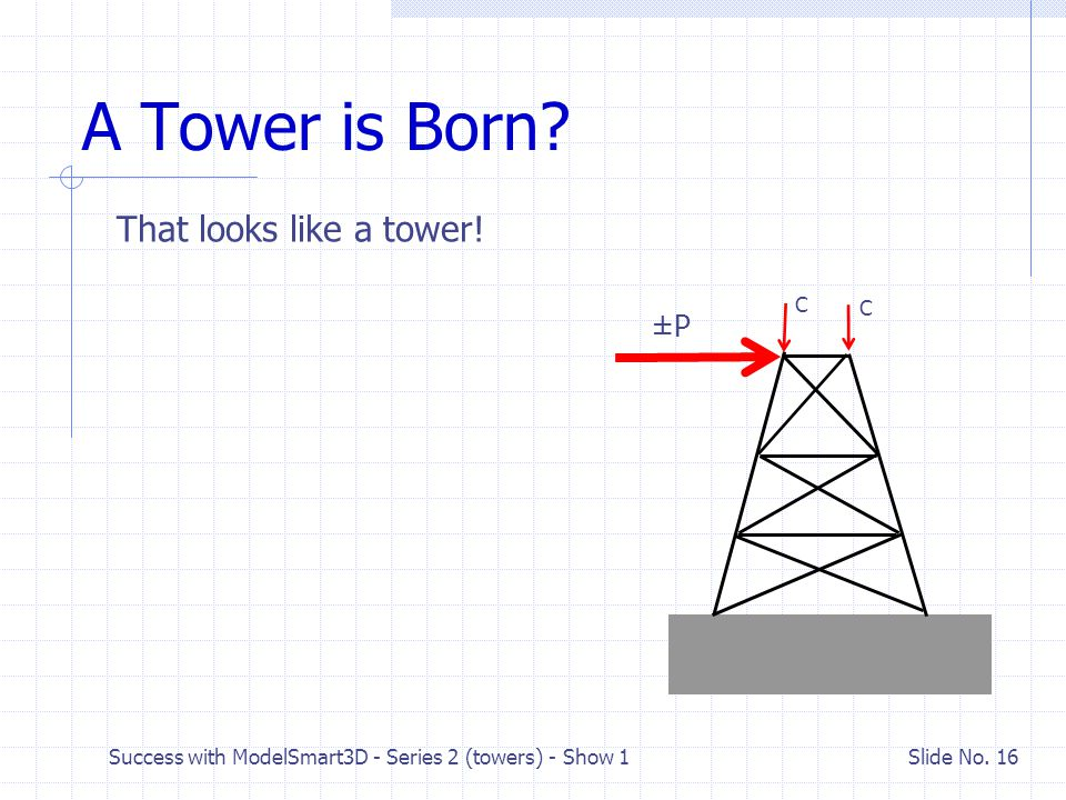 A Tower is Born That looks like a tower! ±P C C