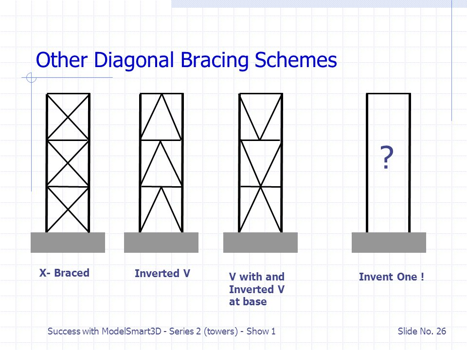 Other Diagonal Bracing Schemes