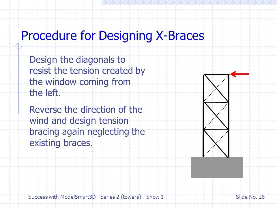 Procedure for Designing X-Braces