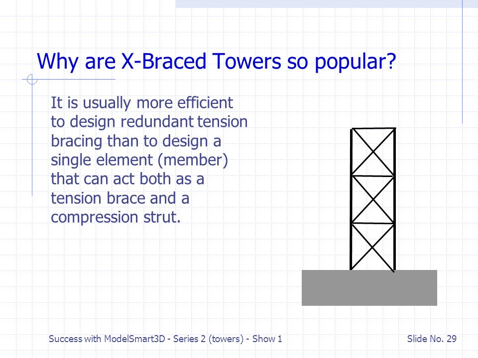 Why are X-Braced Towers so popular