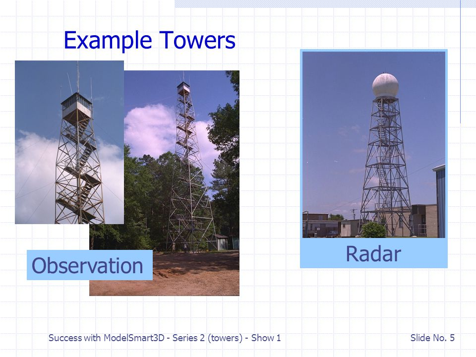 Example Towers Radar Observation