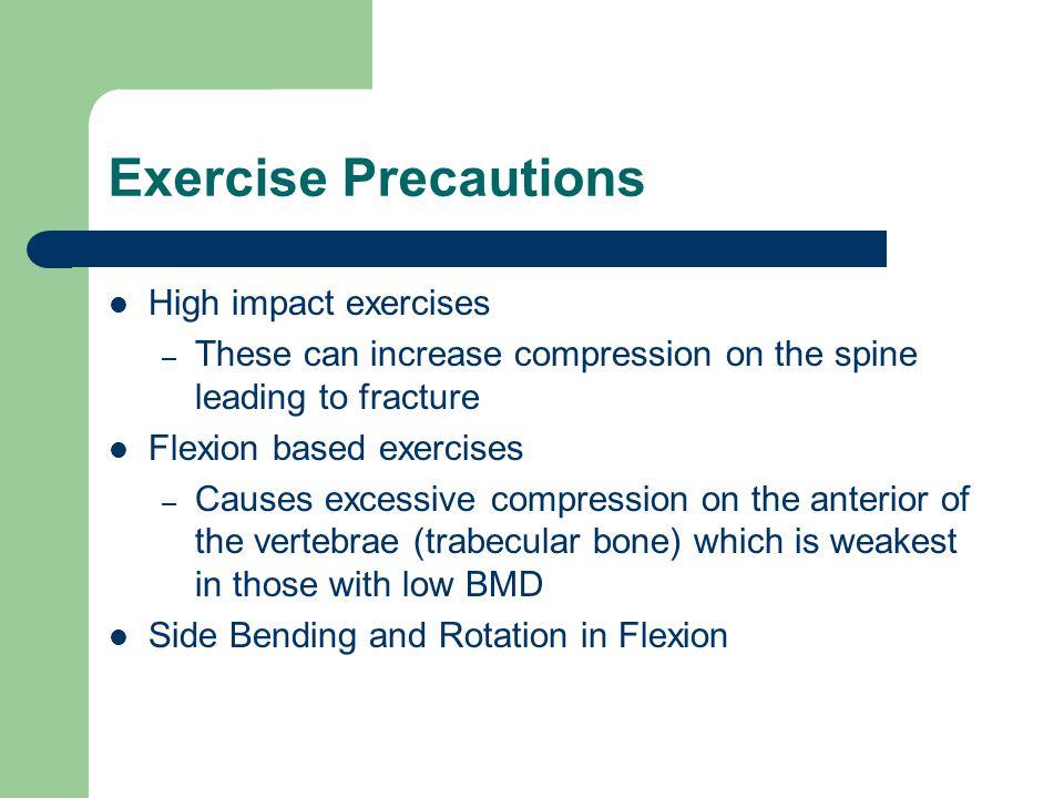 Exercise Precautions High impact exercises