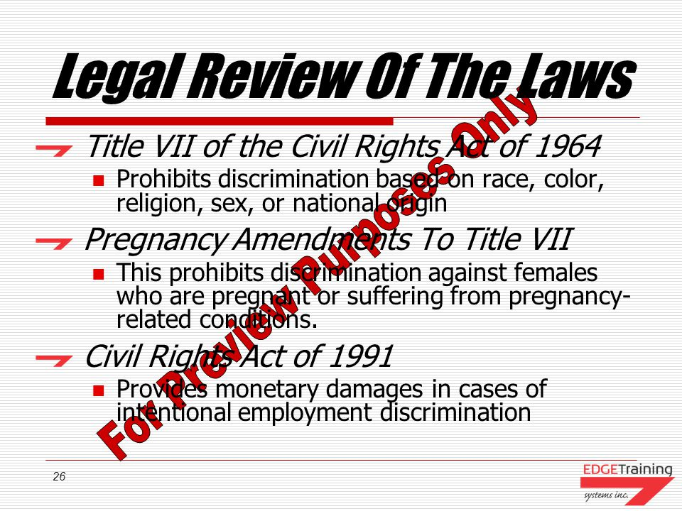 Legal Review Of The Laws