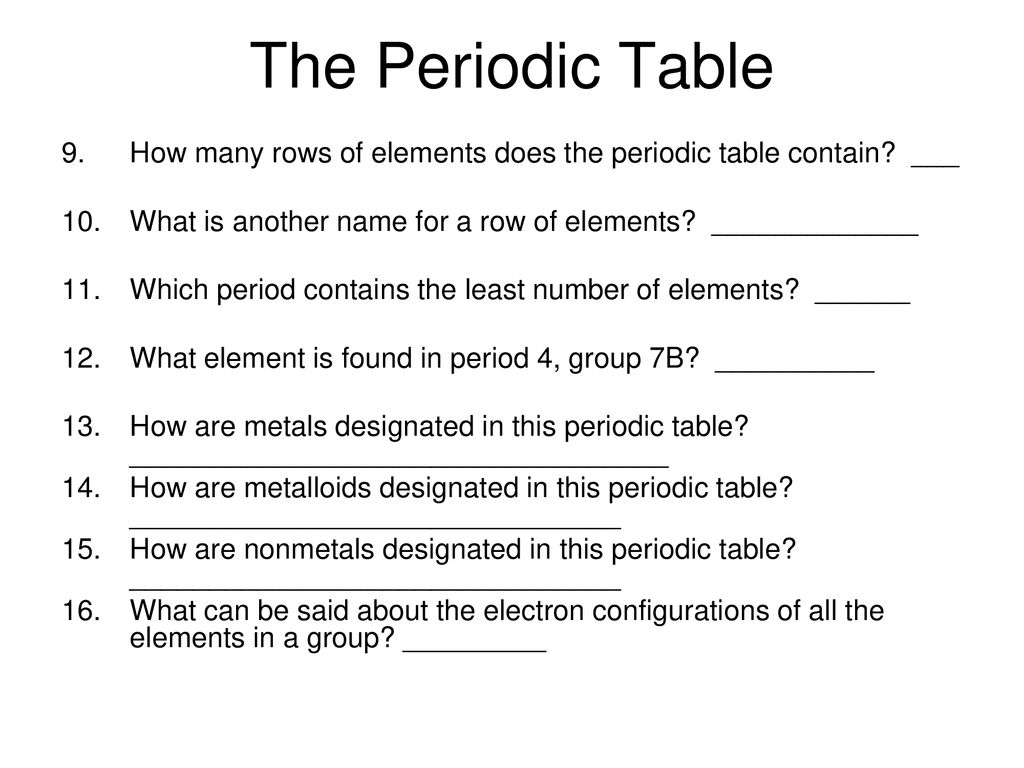 61 the periodic table a history ppt download the periodic table how many rows of elements does the periodic table contain what urtaz Choice Image