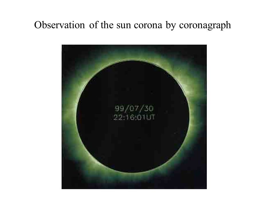 Observation of the sun corona by coronagraph