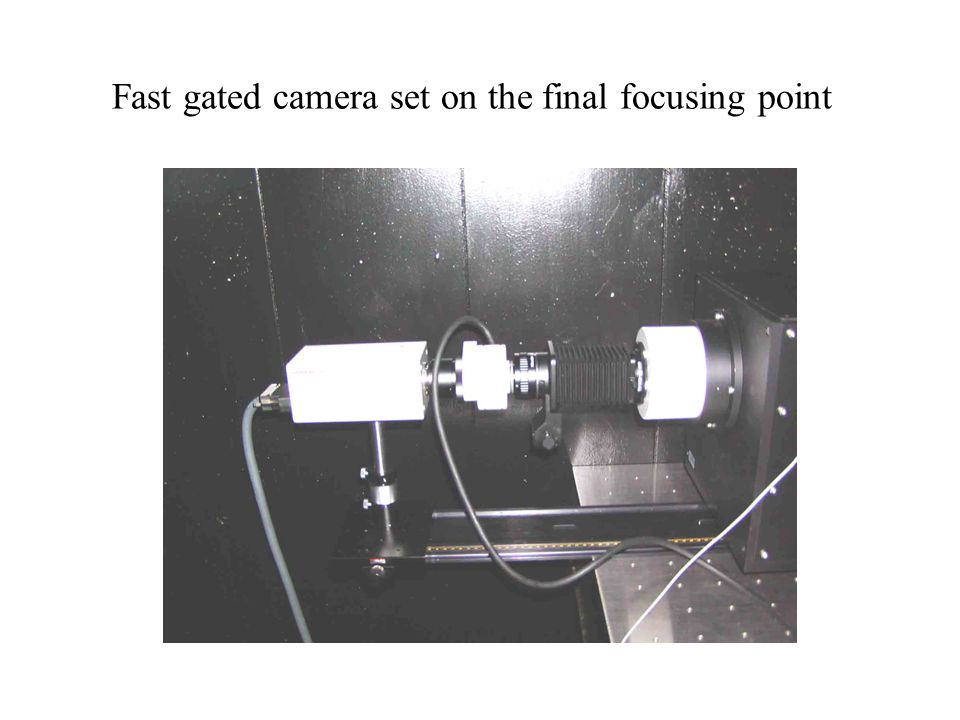Fast gated camera set on the final focusing point