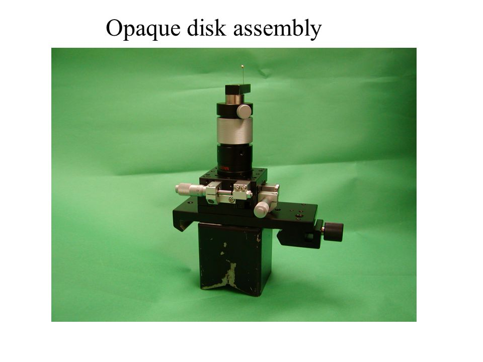 Opaque disk assembly