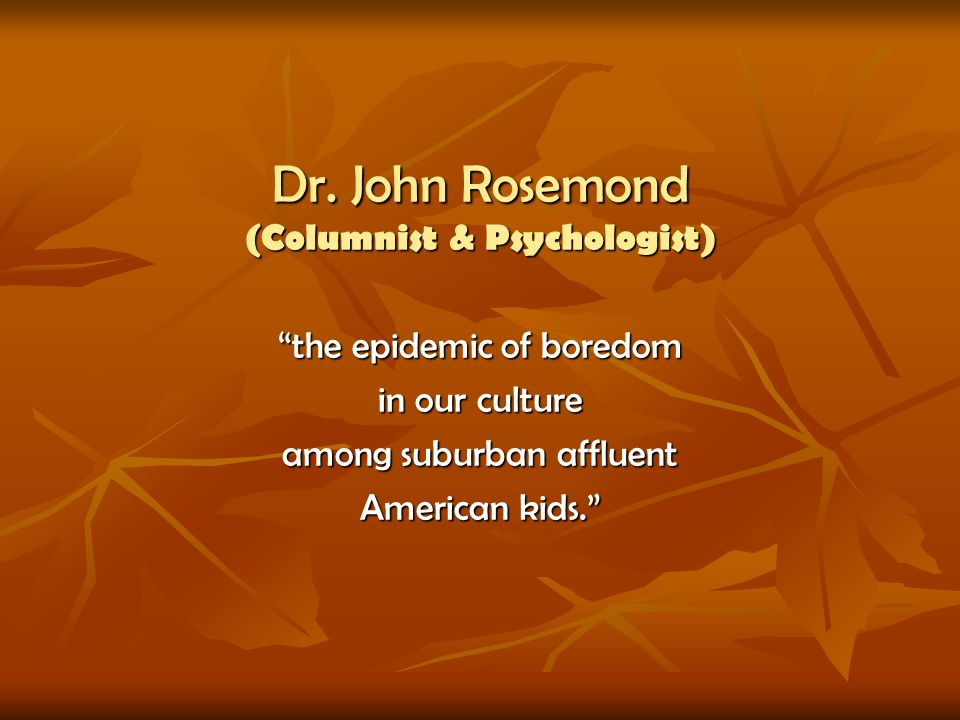 Dr. John Rosemond (Columnist & Psychologist)