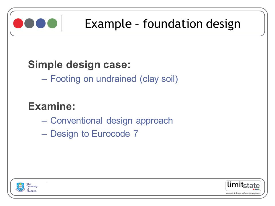 Example – foundation design