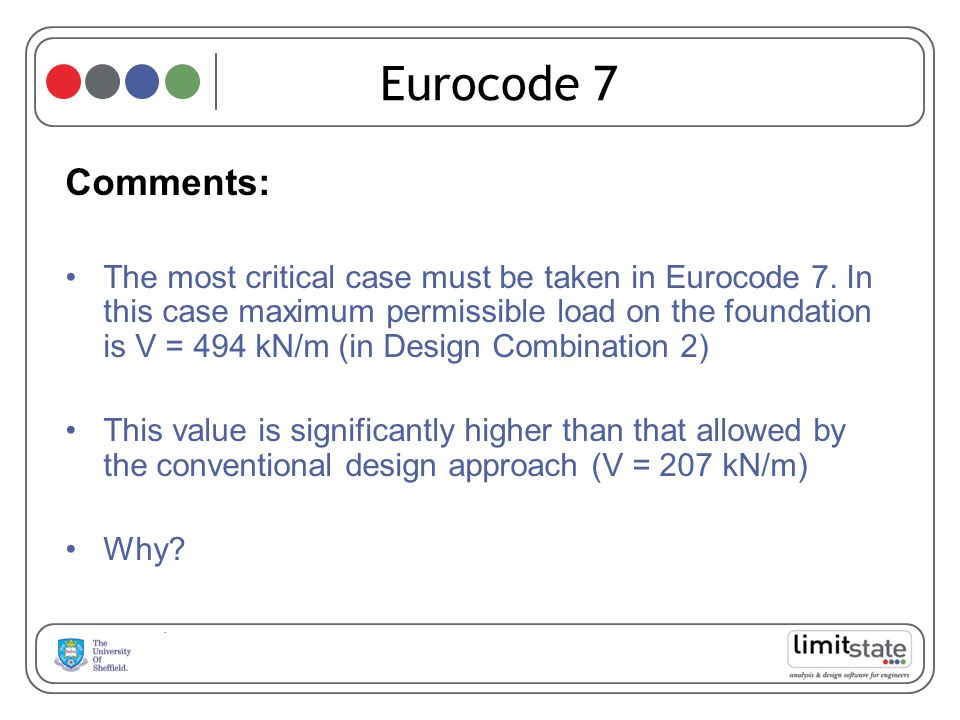 Eurocode 7 Comments: