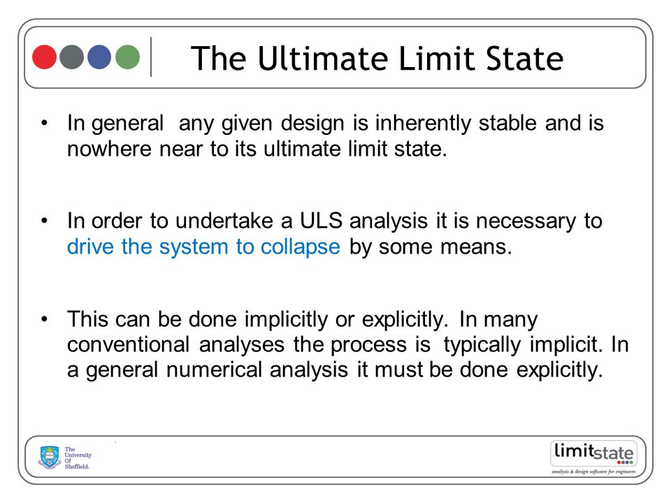The Ultimate Limit State