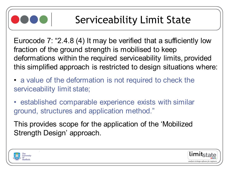 Serviceability Limit State