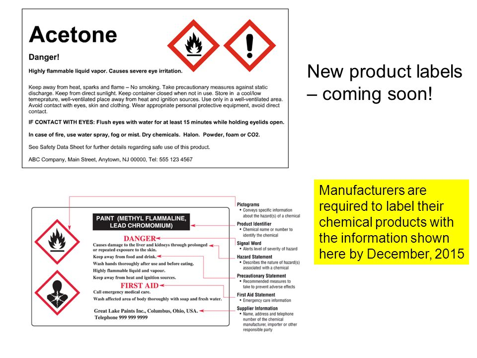 New product labels – coming soon!