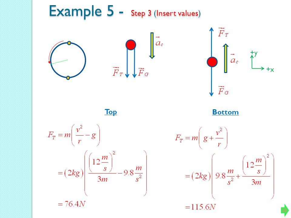 Example 5 - Step 3 (Insert values)