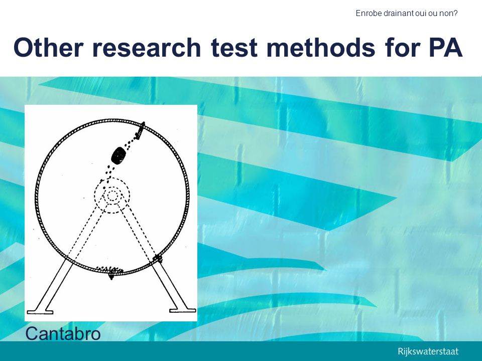 Other research test methods for PA
