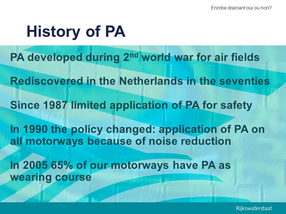 History of PA PA developed during 2nd world war for air fields
