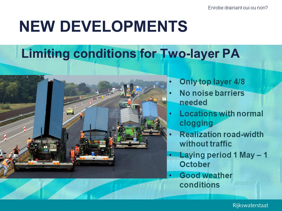 Limiting conditions for Two-layer PA