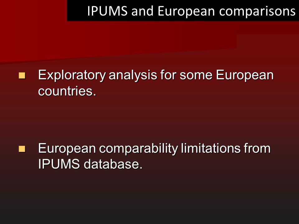 IPUMS and European comparisons