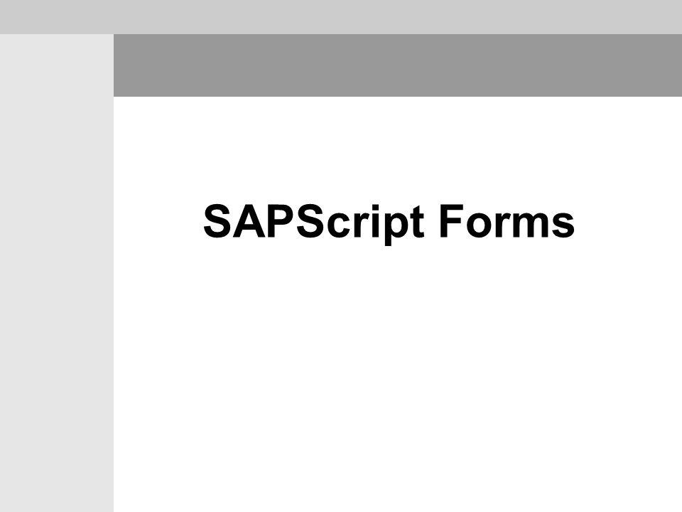 SAPScript Forms
