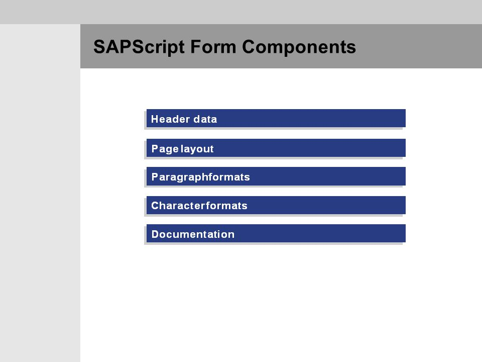 SAPScript Form Components