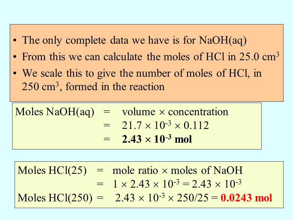 The only complete data we have is for NaOH(aq)