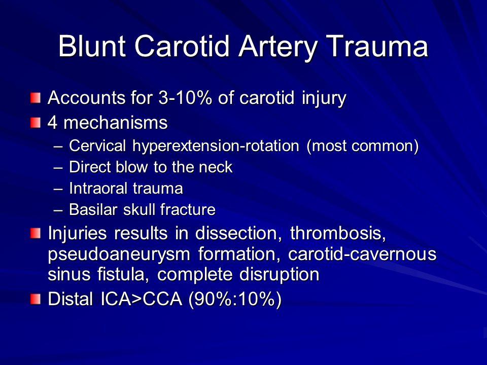 Blunt Carotid Artery Trauma