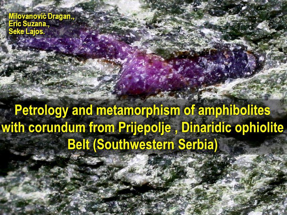 Petrology and metamorphism of amphibolites