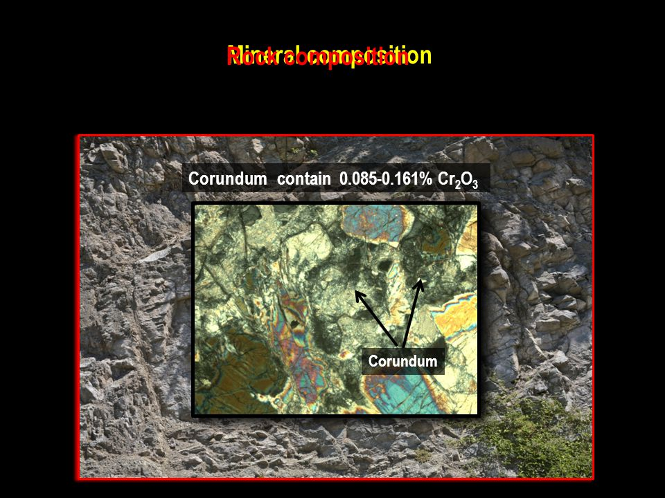 Rock composition Mineral composition