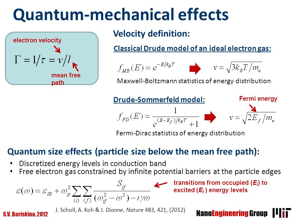 Quantum-mechanical effects