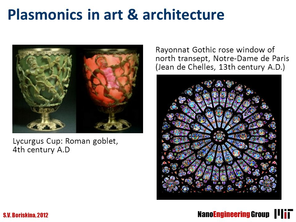 Plasmonics in art & architecture