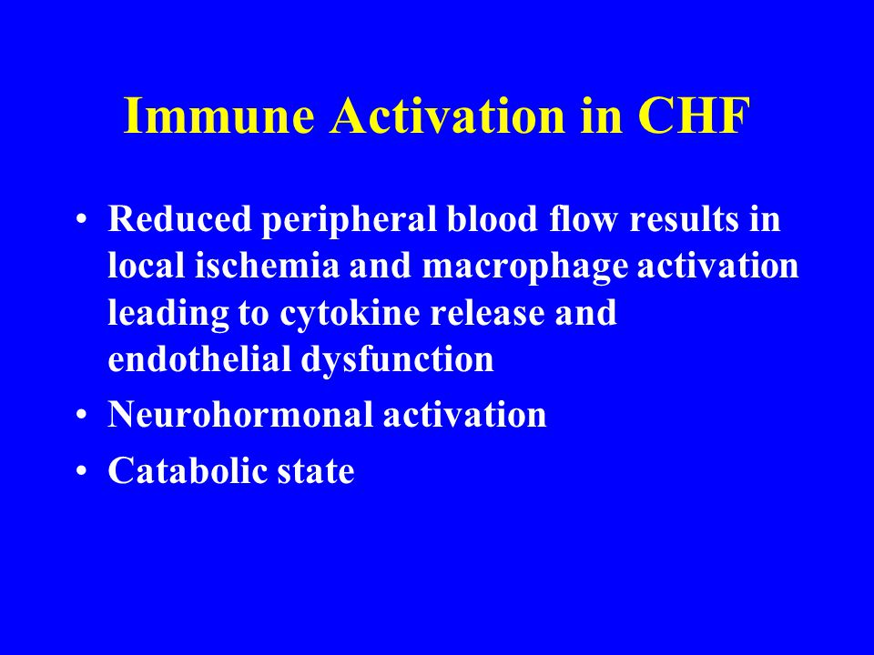 Immune Activation in CHF