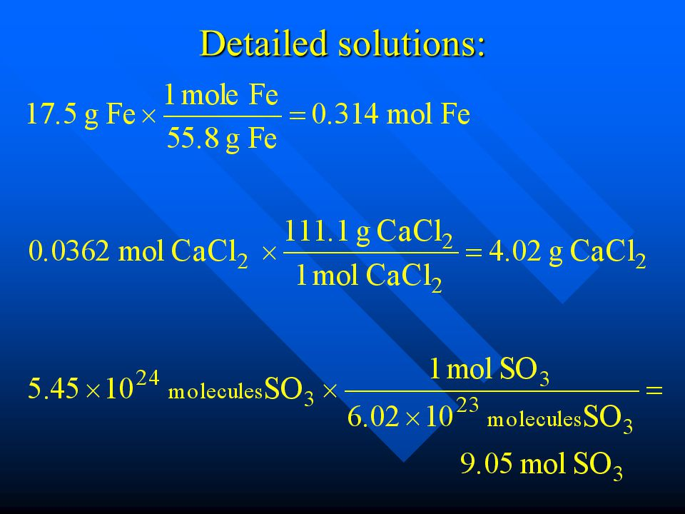 Detailed solutions: