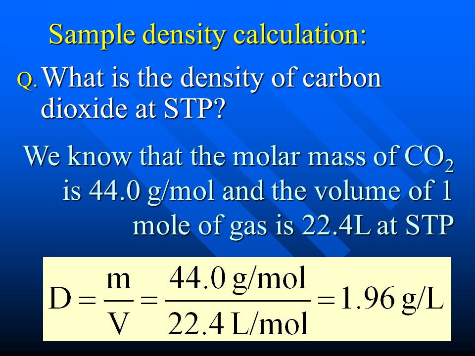 Sample density calculation: