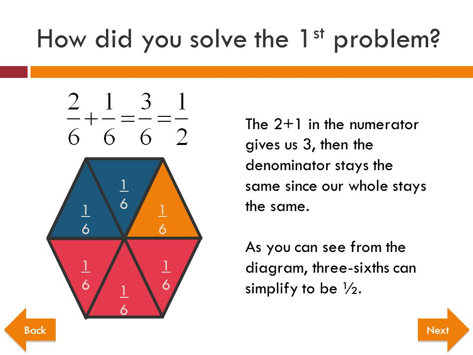 How did you solve the 1st problem