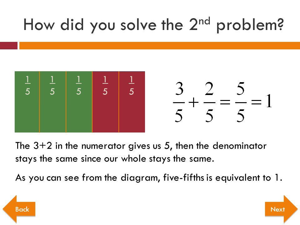 How did you solve the 2nd problem