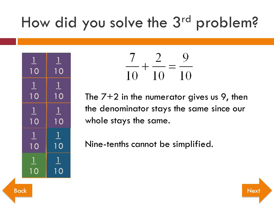 How did you solve the 3rd problem