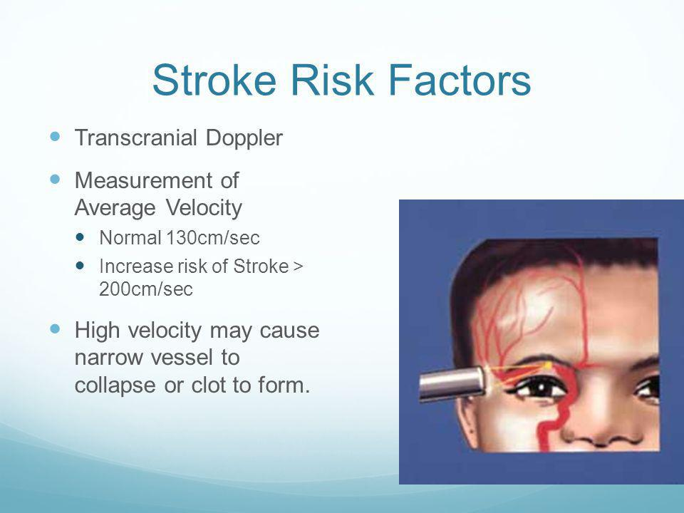 Stroke Risk Factors Transcranial Doppler