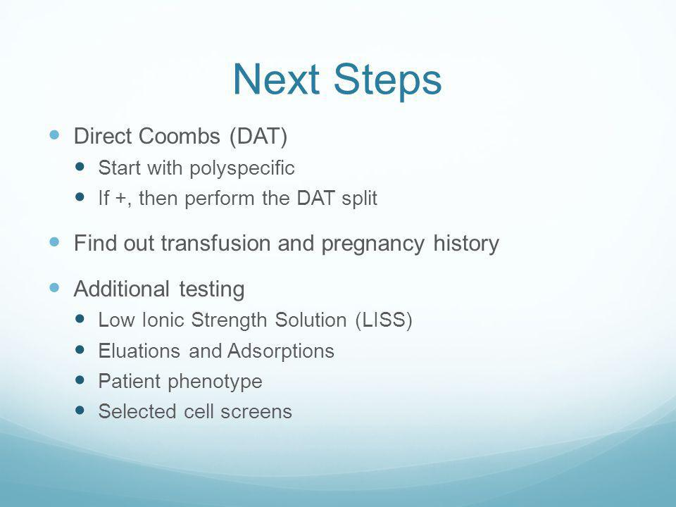 Next Steps Direct Coombs (DAT)