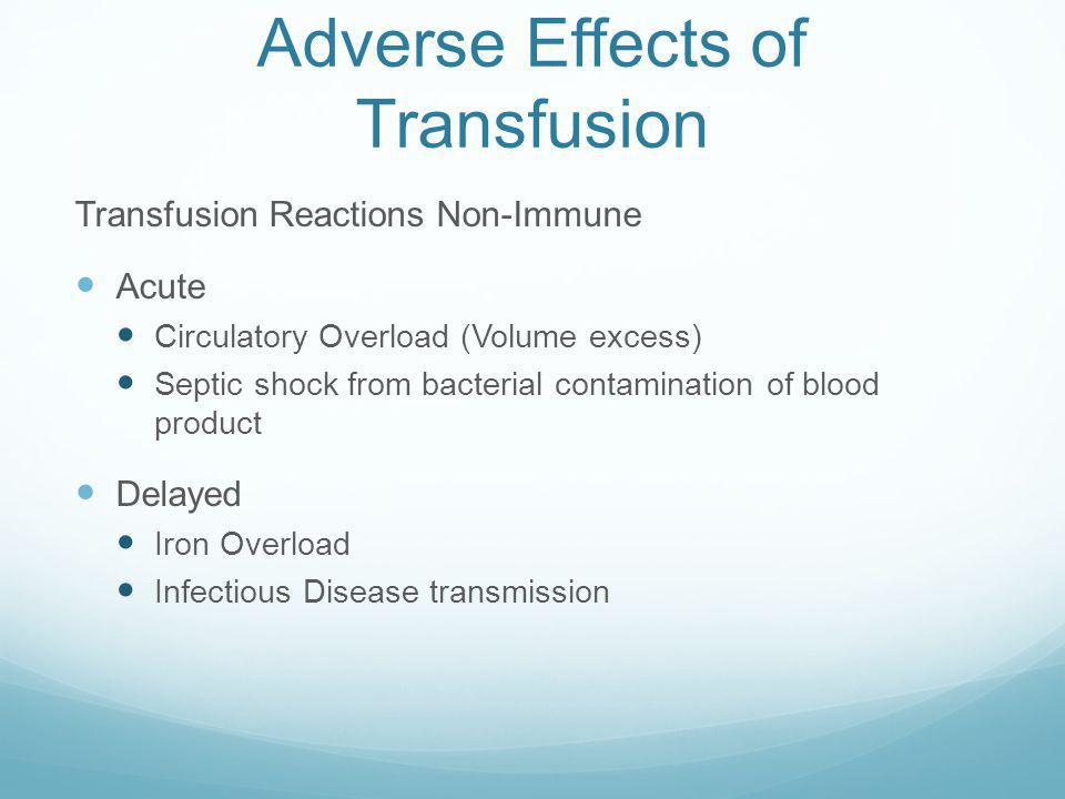 Adverse Effects of Transfusion