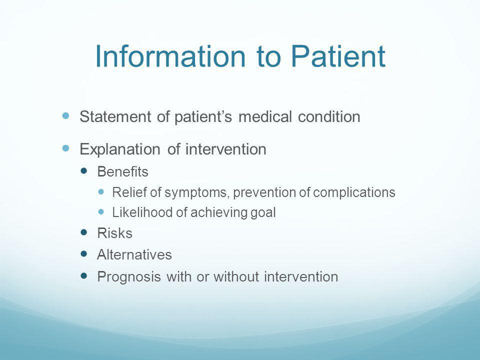 Information to Patient