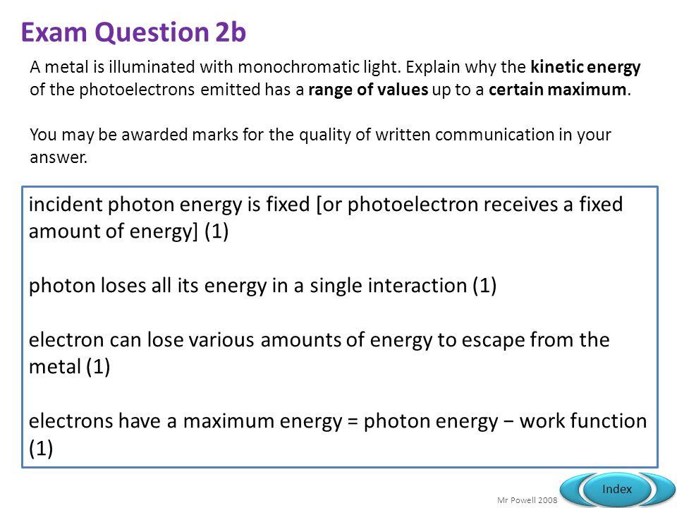 Exam Question 2b