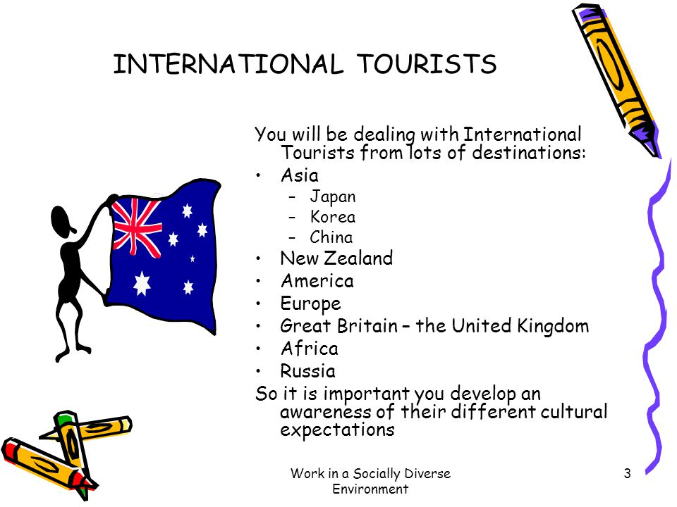 INTERNATIONAL TOURISTS