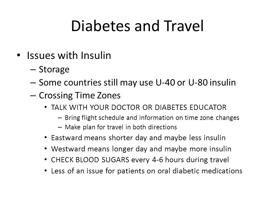 Diabetes and Travel Issues with Insulin Storage